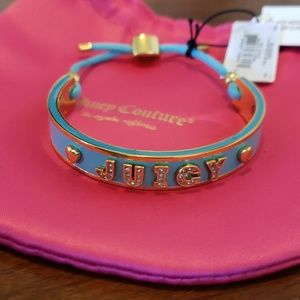 Juicy Couture enamel & cord bangle
